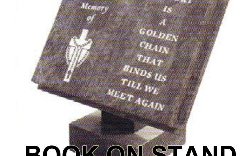 Gavins Memorials, Ballyhaunis, Co Mayo, Ireland.  Book on Stand - GS 209