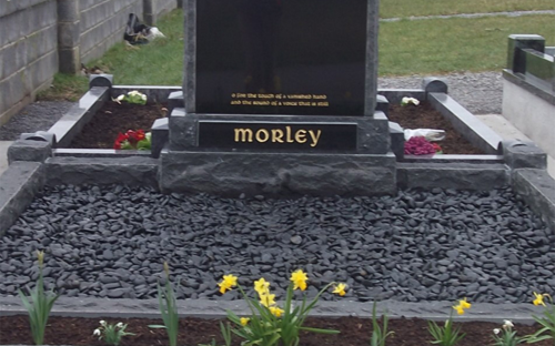 Gavins Memorials, Ballyhaunis, Co Mayo, Ireland.  Rough Boulder - GM004