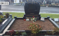 Gavins Memorials, Ballyhaunis, Co Mayo, Ireland.  Heart Shaped - GM 013