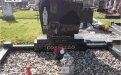 Gavins Memorials, Ballyhaunis, Co Mayo, Ireland.  Black WJM - GM 017