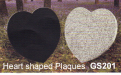Gavins Memorials, Ballyhaunis, Co Mayo, Ireland.  Heart Shaped Plaques - GS 201
